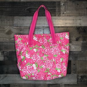 Lilly Pullitzer Insulated Cooler Beach Tote Bag